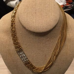 Multi Strands Gold Necklace